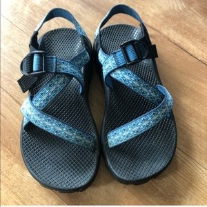Blue chacos